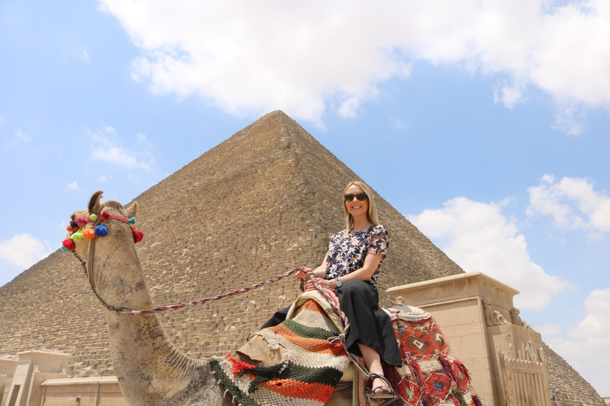 That time I rode a camel at The Great Pyramids ofGiza